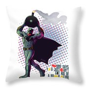 Batfleck And The Bomb Throw Pillow