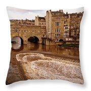 Bath England United Kingdom Uk Throw Pillow