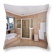 Bathroom And Spa Bath Throw Pillow