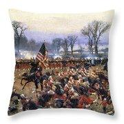 Battle Of Fredericksburg - To License For Professional Use Visit Granger.com Throw Pillow