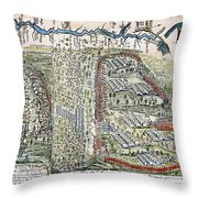 Battle Of Lake George, 1755 Throw Pillow