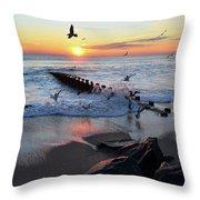 Bay Head Sunrise Throw Pillow