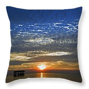 Bay Sunset Throw Pillow