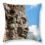 Bayon Temple, Anghor Throw Pillow