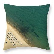 Beach Along Lake Michigan Throw Pillow