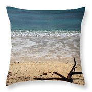 Beach At Grand Turk Throw Pillow