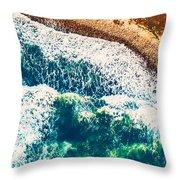 Beach Background Throw Pillow