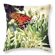 Beach Butterfly Throw Pillow