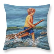 Beach Enterprise Throw Pillow