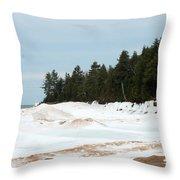 Beach Of Ice Throw Pillow