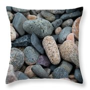 Beach Of Stones Throw Pillow