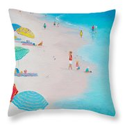 Beach Painting - One Summer Throw Pillow