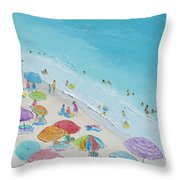 Beach Painting - Summer Love Throw Pillow