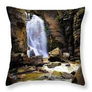 Beartooth Falls Throw Pillow