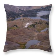 Beartooth Highway Cirques Throw Pillow