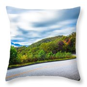 Beautiful Autumn Landscape In North Carolina Mountains Throw Pillow