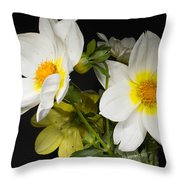 Beautiful Autumn White Flowers Throw Pillow