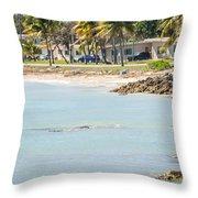 Beautiful Beach And Ocean Scenes In Florida Keys Throw Pillow