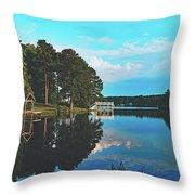 Beautiful Bunn Lake - Zebulon, North Carolina Throw Pillow