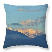 Beautiful Countryside Of The Italian Mountains With A Cloudy Sky Throw Pillow
