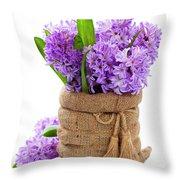 Beautiful Hyacinths Throw Pillow