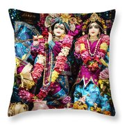 Beautiful Image Of Krishna And Radhe From Boise Hare Krishna Temple Throw Pillow