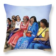 Beautiful Ladies Throw Pillow