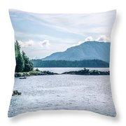 Beautiful Landscape In Alaska Mountains  Throw Pillow