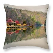 Beautiful Landscape Near Lake Lure North Carolina Throw Pillow