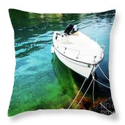 Greek Vacations Throw Pillow