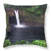 Beautiful Rainbow Falls 2 Throw Pillow