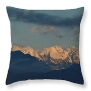 Beautiful Scenic View Of The Mountains In Italy  Throw Pillow