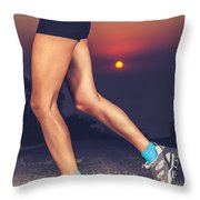 Beautiful Sportive Womens Legs Throw Pillow