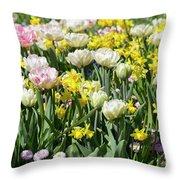 Beautiful Spring Flowers Throw Pillow