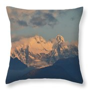 Beautiful View Of The Dolomites Mountains In Italy  Throw Pillow