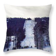 Beautiful Winter Landscape At Timberline West Virginia Throw Pillow