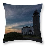 Beavertail Lighthouse Throw Pillow
