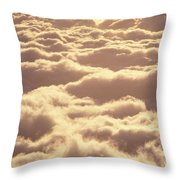 Bed Of Puffy Clouds Throw Pillow
