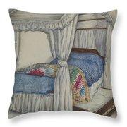 Bedstead Throw Pillow