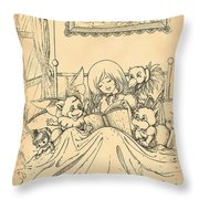 Bedtime For All Throw Pillow