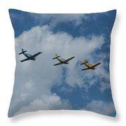 Beechcraft T-34 Mentor Airplane Trio 3 Throw Pillow