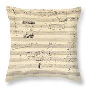 Beethoven Manuscript, 1826 Throw Pillow by Granger