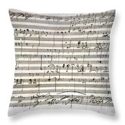 Beethoven Manuscript Throw Pillow by Granger