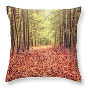 Before The Last Leaf Falls Throw Pillow
