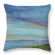 Before The Rainbows Throw Pillow