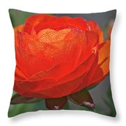 Begonia In The Morning Throw Pillow