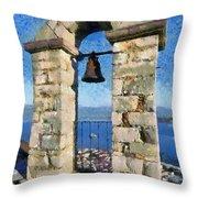 Belfry On Palamidi Castle Throw Pillow