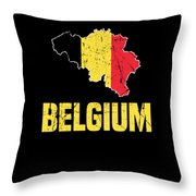 Belgium Flag Apparel Throw Pillow