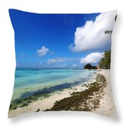 Belle Mare Throw Pillow