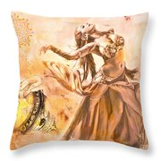 Belly Dance Throw Pillow